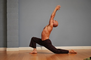men cresecent lunge - poses for men - healing yoga