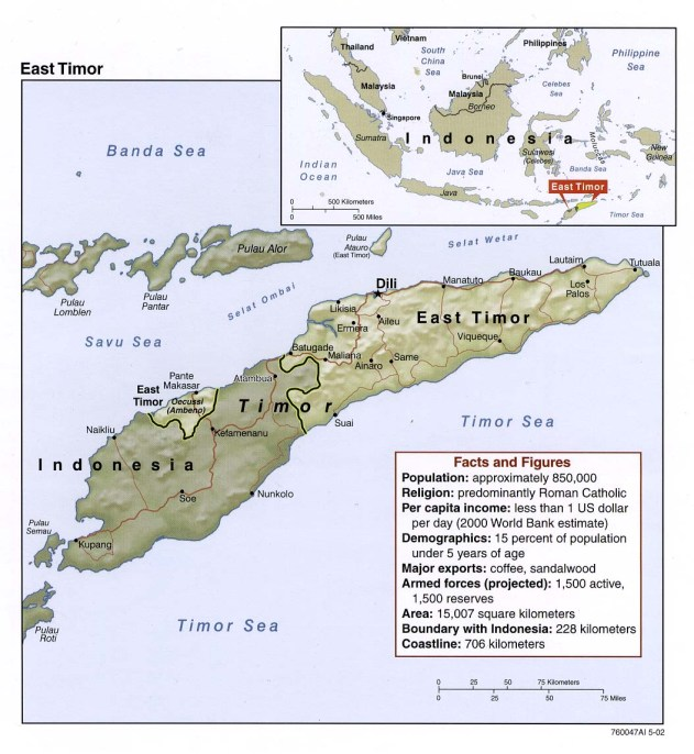 East Timor map